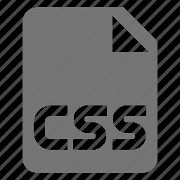 coding, css, file, programming icon
