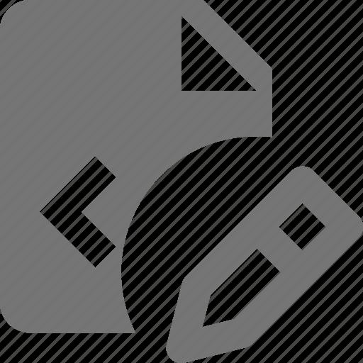 coding, edit, file, pencil, programming icon