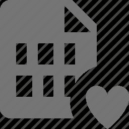 favorite, file, heart, like icon