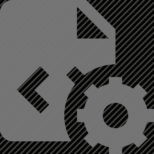 coding, configuration, file, gear, programming, settings icon