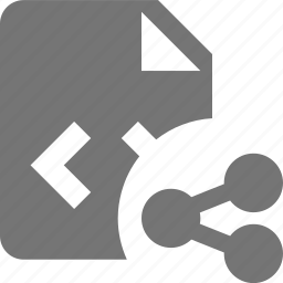 coding, file, programming, share icon