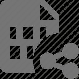 file, share icon