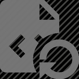 arrow, coding, file, programming, refresh, reload, sync icon