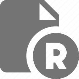 file, registered trademark icon