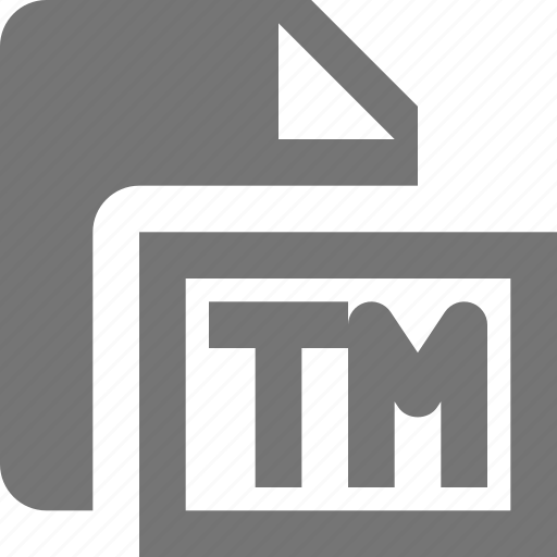 file, trademark icon
