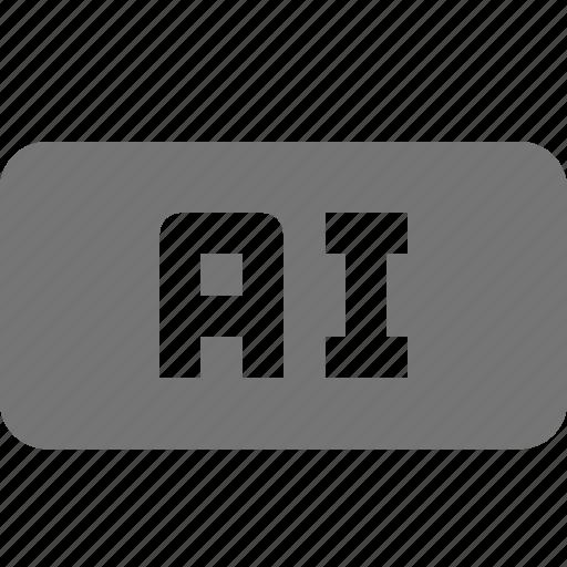 ai, extension, file, format icon