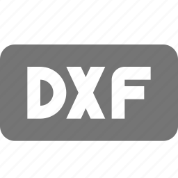 dxf, extension, file, format icon