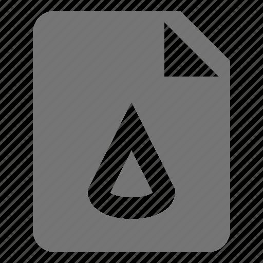 cone, file, format icon