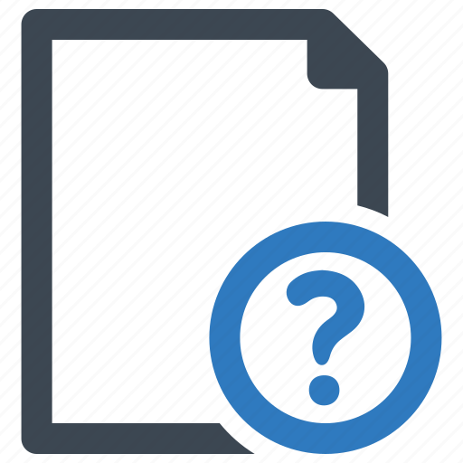 document, file, page, question icon