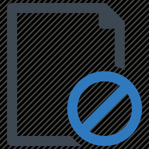 block, closed, file, page icon