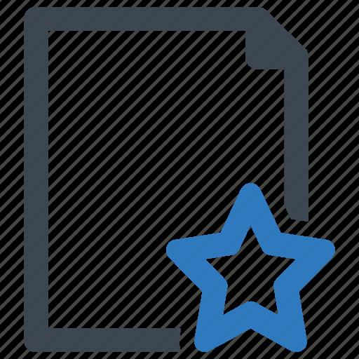 bookmark, favorite, file, page icon