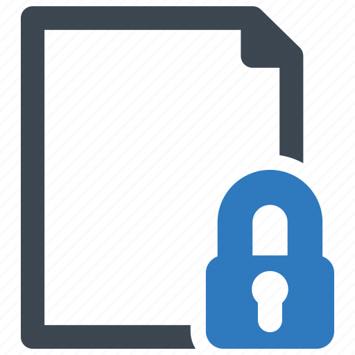 document, file, page, security icon