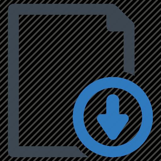 document, download, file icon