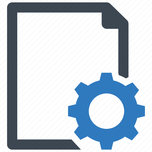 document, file, page, setting icon