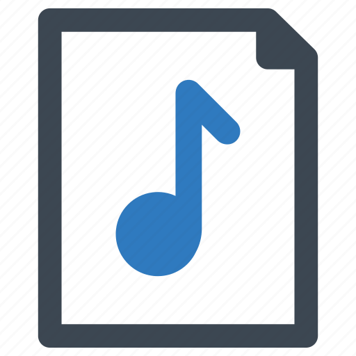 audio, file, music, page icon