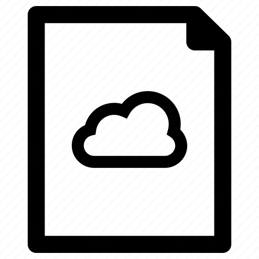 cloud, file, sharing icon
