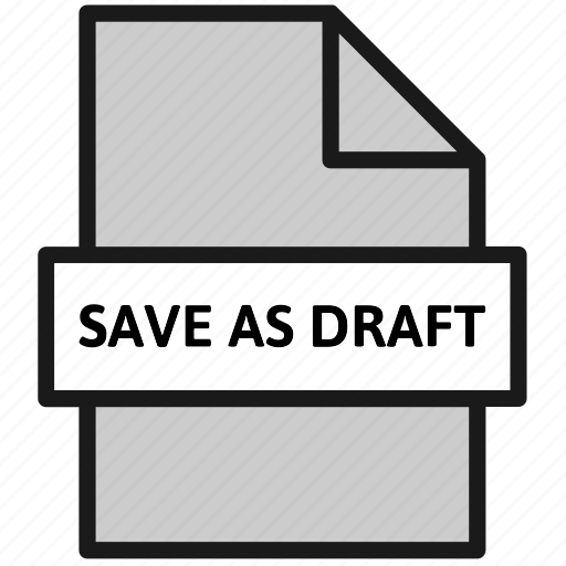 action, document, draft, file, filetype, save as draft, sheet icon