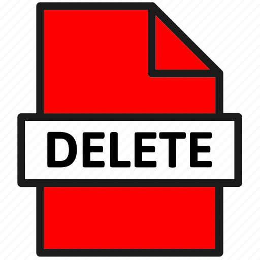 action, delete, document, file, page, sheet, type icon