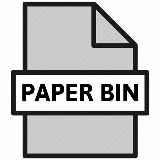action, document, file, filetype, page, paper bin, type icon