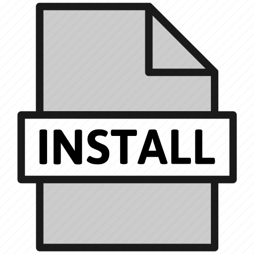 action, archive, document, file, install, page, type icon