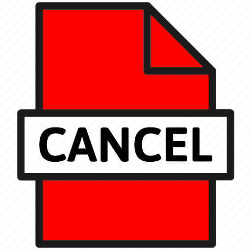 action, cancel, document, file, filetype, page, type icon
