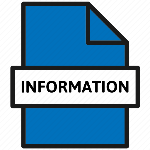action, document, file, filetype, information, page, type icon