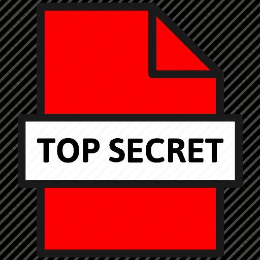 action, document, file, filetype, sheet, top secret, type icon