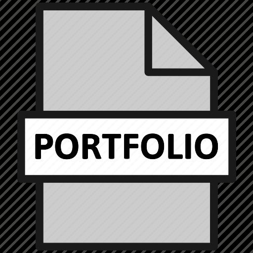 action, document, file, filetype, page, portfolio, type icon