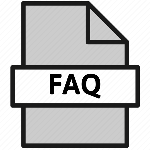 action, document, faq, file, frequently asked questions, page, type icon