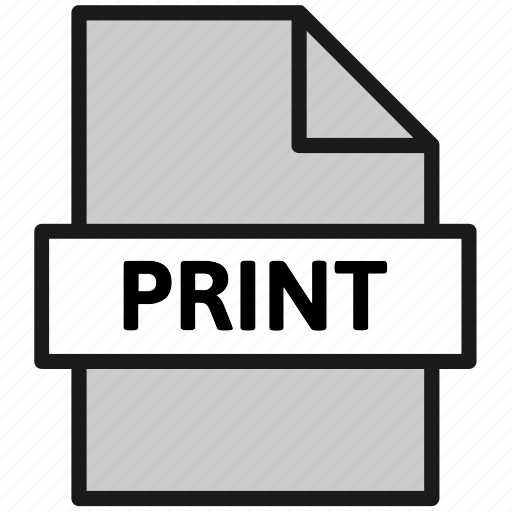 action, document, file, filetype, page, print, type icon