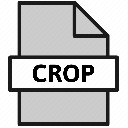 action, crop, document, file, filetype, sheet, type icon