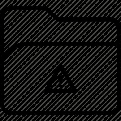 alert, data, document, file, folder, storage, warning icon