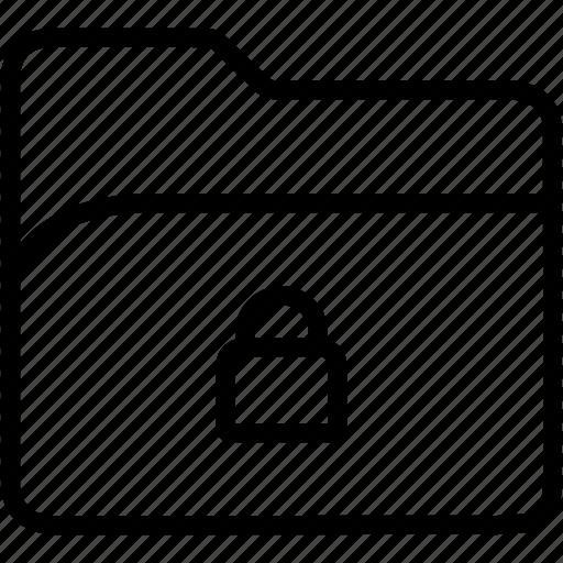 data, document, file, folder, lock, security, storage icon