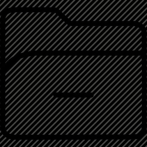 data, document, file, folder, minus, storage icon