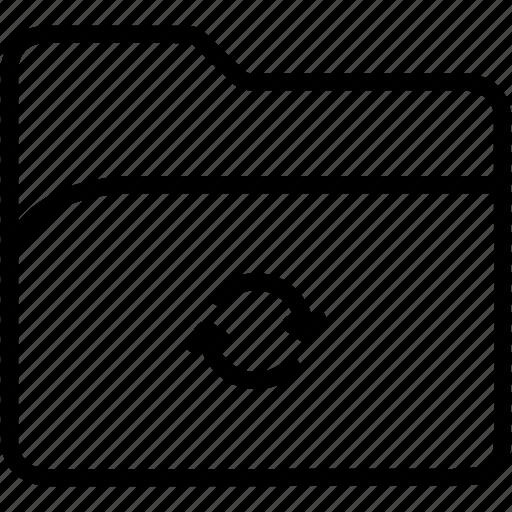 arrows, data, document, file, folder, refresh, storage icon