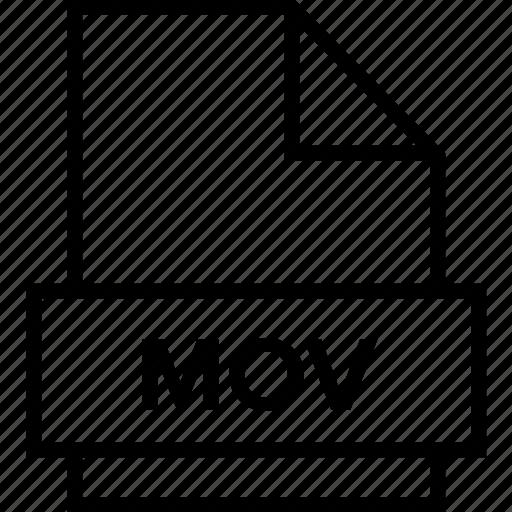 archive, document, explorer, extension, file, folder, mov icon