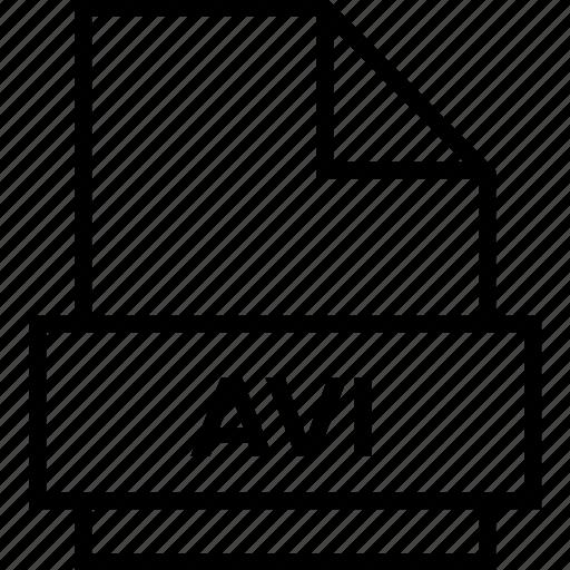 archive, avi, document, explorer, extension, file, folder icon