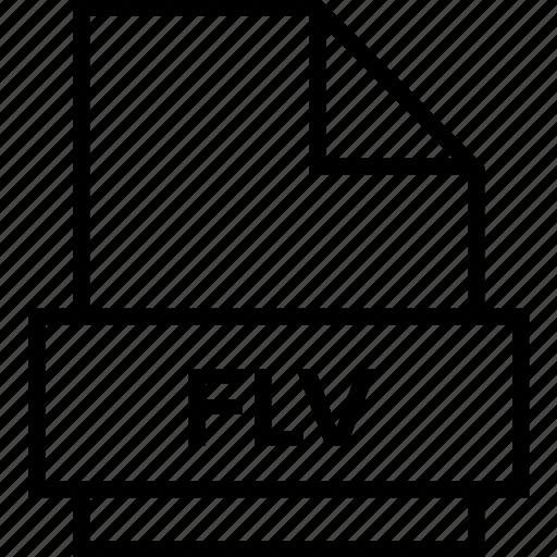 archive, document, explorer, extension, file, flv, folder icon
