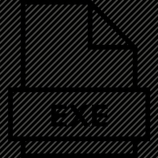 archive, document, exe, explorer, extension, file, folder icon