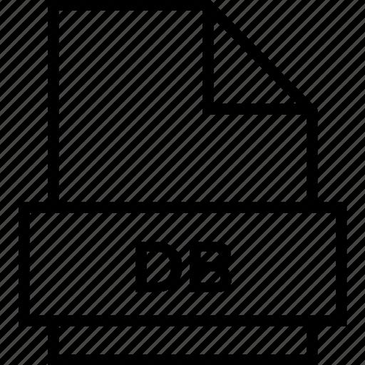 archive, db, document, explorer, extension, file, folder icon