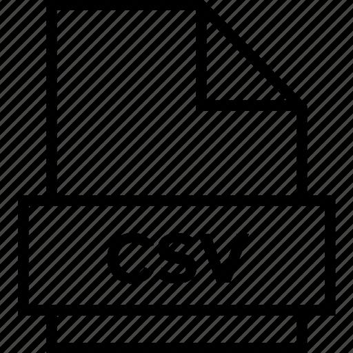 archive, csv, document, explorer, extension, file, folder icon