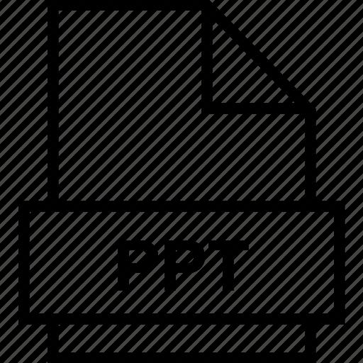 archive, document, explorer, extension, file, folder, ppt icon
