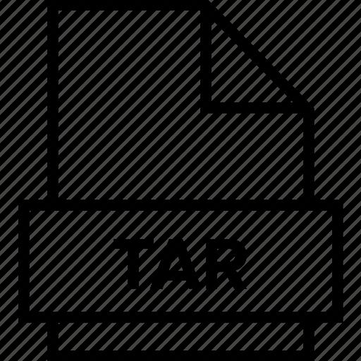 archive, document, explorer, extension, file, folder, tar icon