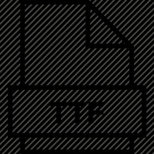 archive, document, explorer, extension, file, folder, ttf icon