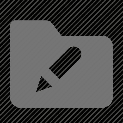 edit, folder, pen icon