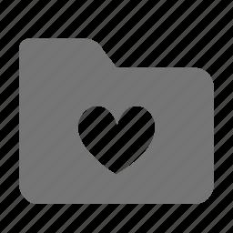 favorite, folder, heart, like icon
