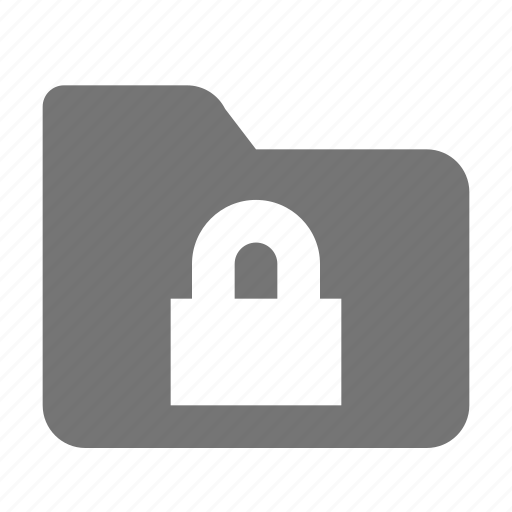 folder, lock, security icon
