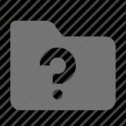 folder, help, question icon