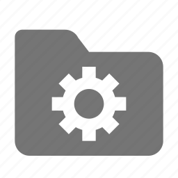 configuration, folder, gear, options, settings icon