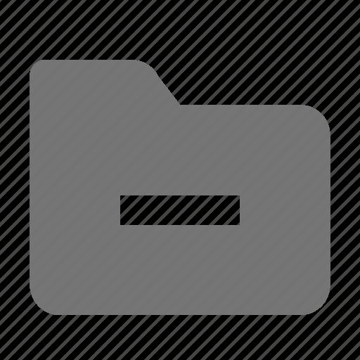 folder, minimize, minus icon